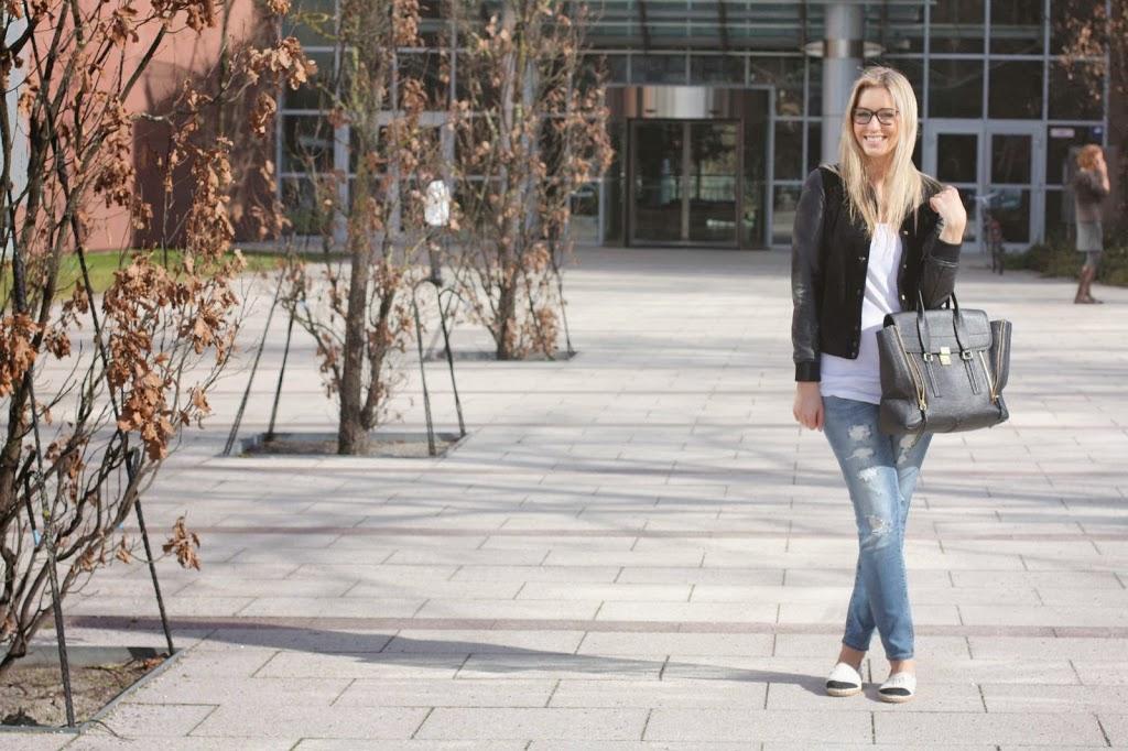College Jacke, Pazi, Ronny Philp Freundin, Modeblog
