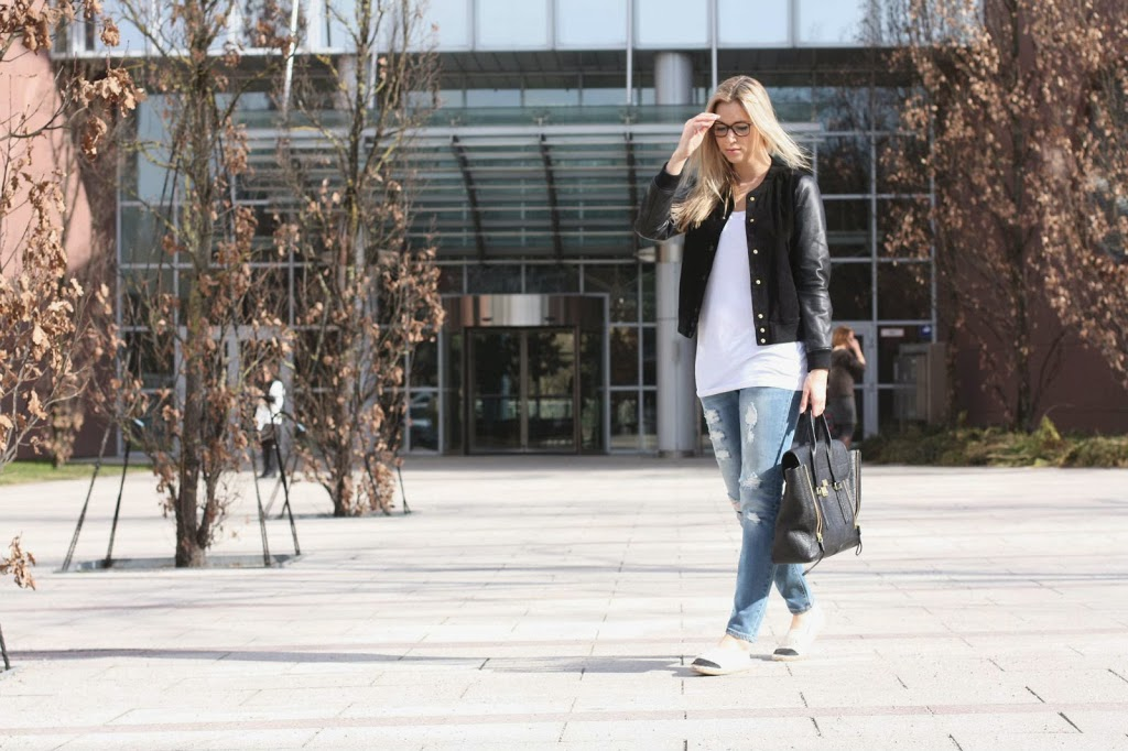 Mode Blog, Fashion Blog, Patrizia Philp, Jacke Mango, Chanel Brille, Maison Pazi