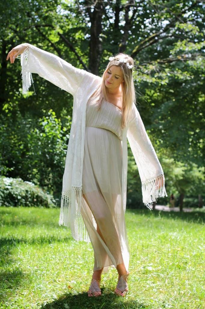 Hippie, Hippielook, Spitzenkimono, Kimono, Sac Noe, Sac Noe Louis Vuitton