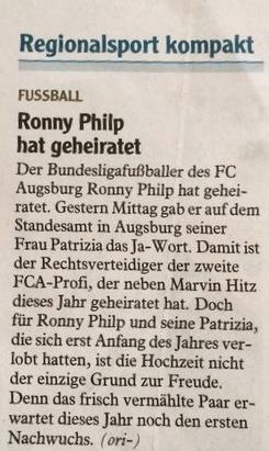 Hochzeit Ronny Philp Patrizia, Augsburg Standesamt, FCA, Wedding, The Paste Blog, Augsburger Allgemeine