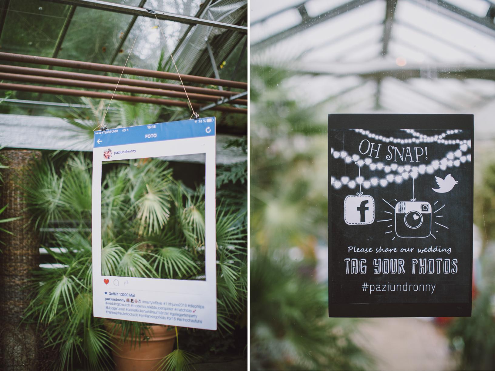 Instagram Rahmen Photo Booth Hochzeit - Maison Pazi