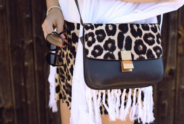 Zara Leo Hose Shorts, Céline Box Bag Leopard, Maison Pazi, Leo Outfit