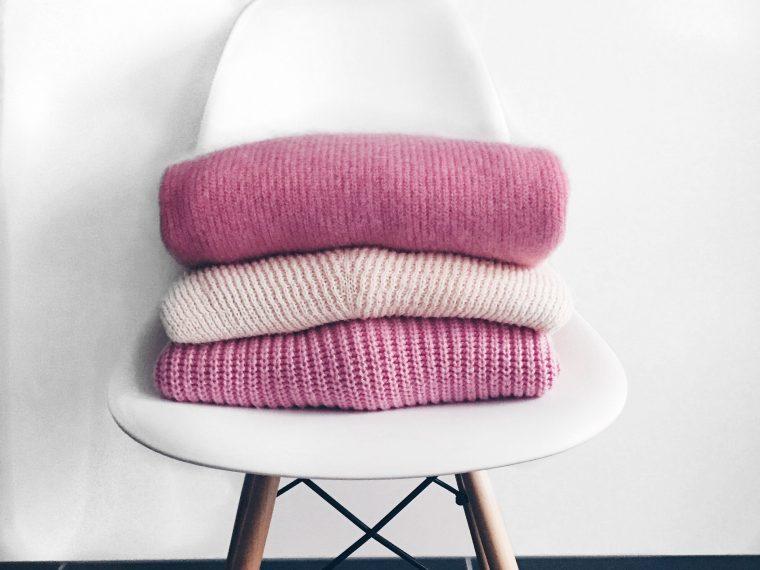 Kuschelpullis in rosa und pink