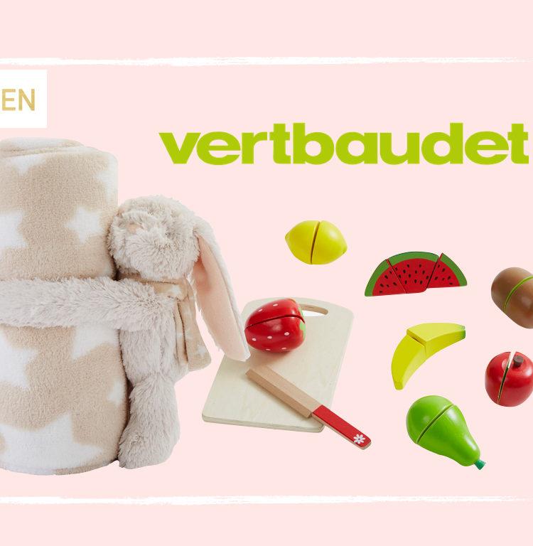 Vertbaudet Kuschelhase und Holz-Schneideset mit Obst im Maison Pazi Adventskalender