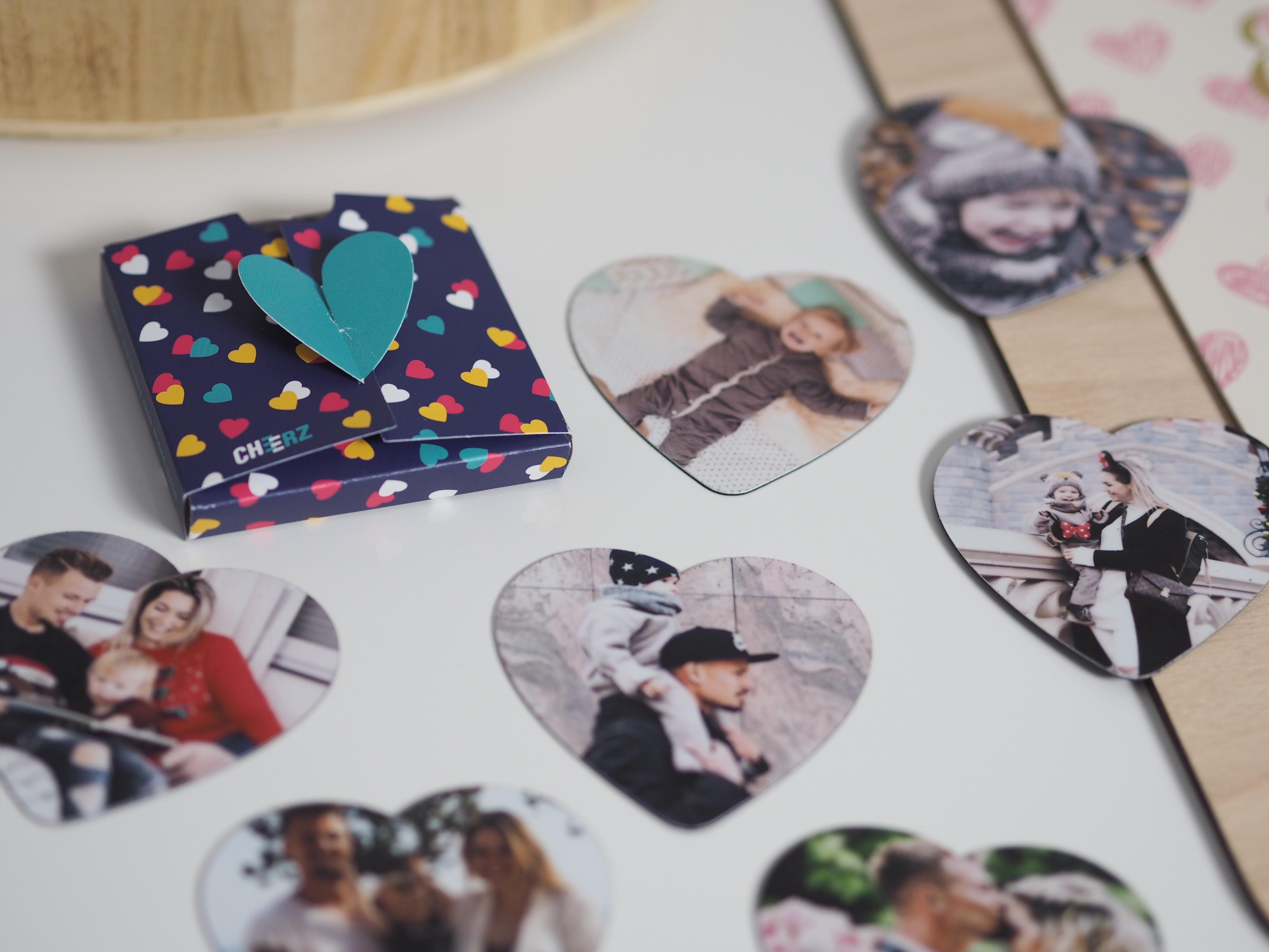 Herzmagnete von Cheerz als Valentinstagsgeschenk, Fotogeschenk, Fotobuch, Fotomagnet