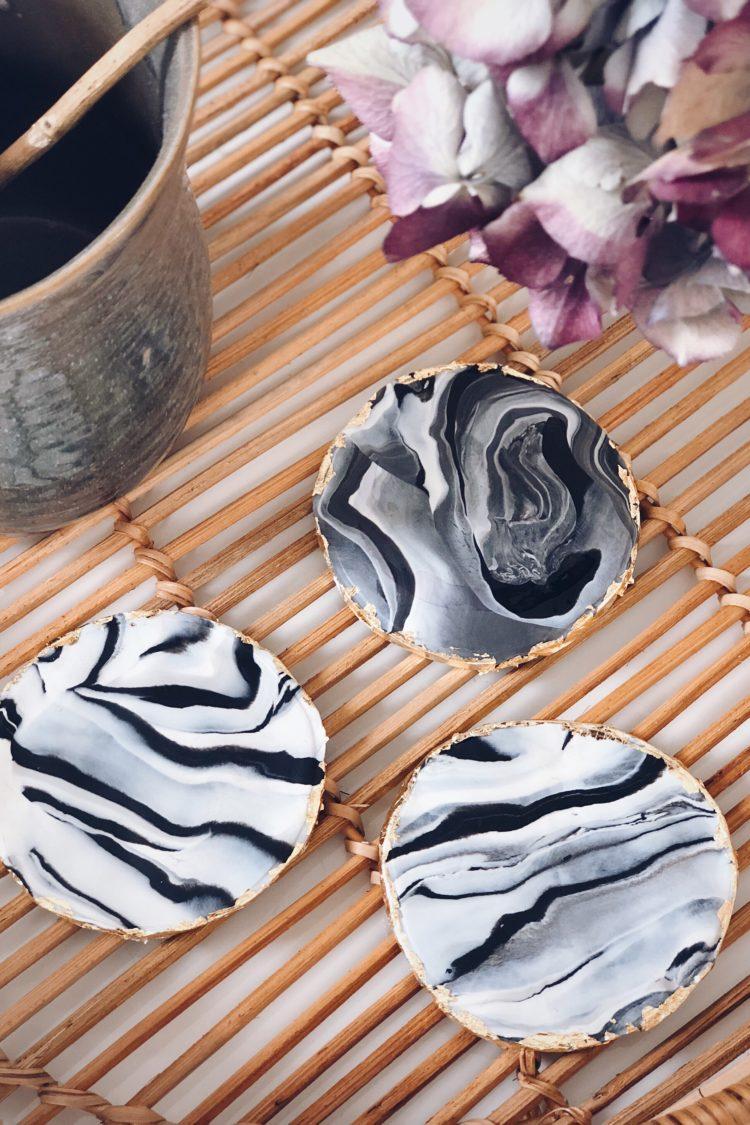 DIY Marmor Untersetzer aus Fimo mit goldenen Details , DIY, Selfmademan, Marmor selber machen